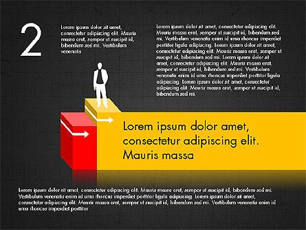 Career Steps Diagram Concept, Slide 11, 03852, Stage Diagrams — PoweredTemplate.com
