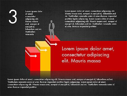 Career Steps Diagram Concept, Slide 12, 03852, Stage Diagrams — PoweredTemplate.com