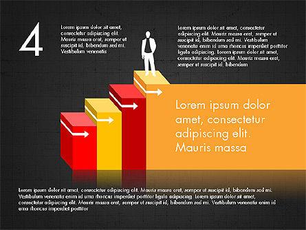 Career Steps Diagram Concept, Slide 13, 03852, Stage Diagrams — PoweredTemplate.com