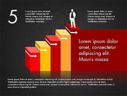 Career Steps Diagram Concept, Slide 14, 03852, Stage Diagrams — PoweredTemplate.com