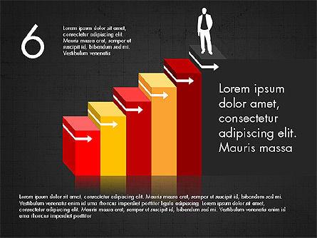 Career Steps Diagram Concept, Slide 15, 03852, Stage Diagrams — PoweredTemplate.com