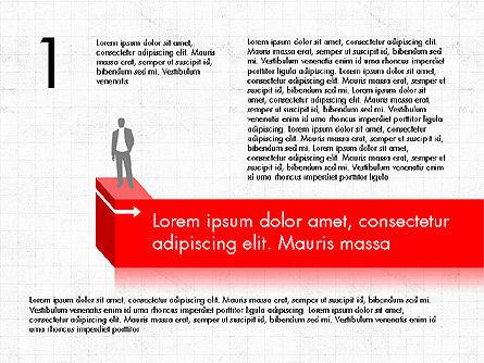 Career Steps Diagram Concept, Slide 2, 03852, Stage Diagrams — PoweredTemplate.com
