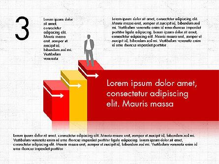 Career Steps Diagram Concept, Slide 4, 03852, Stage Diagrams — PoweredTemplate.com