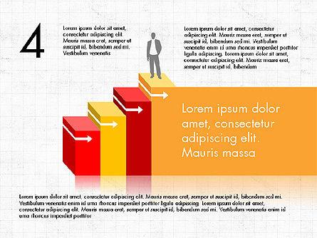 Career Steps Diagram Concept, Slide 5, 03852, Stage Diagrams — PoweredTemplate.com