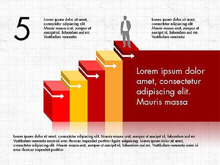Career Steps Diagram Concept, Slide 6, 03852, Stage Diagrams — PoweredTemplate.com