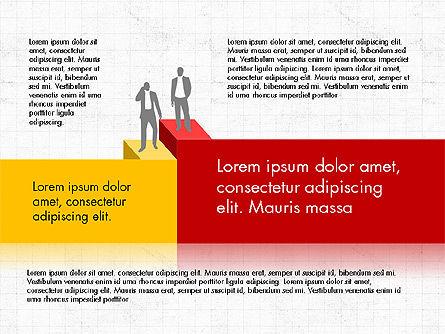 Career Steps Diagram Concept, Slide 8, 03852, Stage Diagrams — PoweredTemplate.com