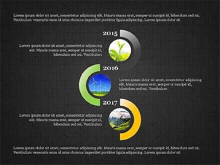 Sphere Timeline and Circles, Slide 16, 03854, Shapes — PoweredTemplate.com