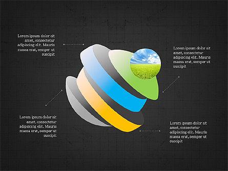 Sphere Timeline and Circles, Slide 9, 03854, Shapes — PoweredTemplate.com