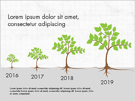 Growth of a Tree Diagram, 03855, Presentation Templates — PoweredTemplate.com