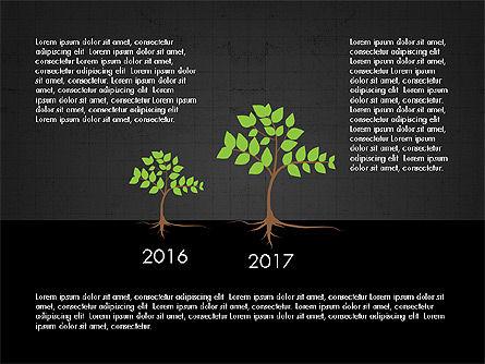 Growth of a Tree Diagram, Slide 11, 03855, Presentation Templates — PoweredTemplate.com