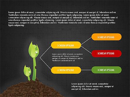 Growth of a Tree Diagram, Slide 14, 03855, Presentation Templates — PoweredTemplate.com
