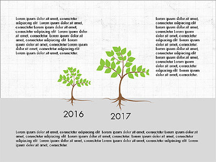 Growth of a Tree Diagram, Slide 3, 03855, Presentation Templates — PoweredTemplate.com