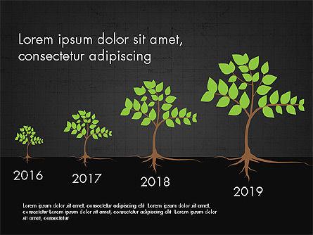 Growth of a Tree Diagram, Slide 9, 03855, Presentation Templates — PoweredTemplate.com