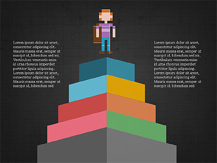 8bit People and Stages, Slide 10, 03856, Stage Diagrams — PoweredTemplate.com
