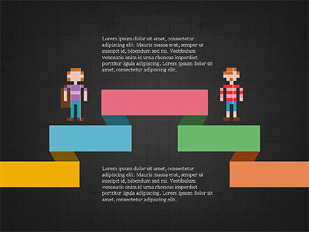 8bit People and Stages, Slide 12, 03856, Stage Diagrams — PoweredTemplate.com