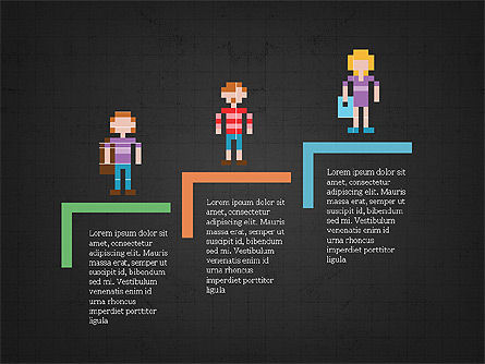 8bit People and Stages, Slide 14, 03856, Stage Diagrams — PoweredTemplate.com