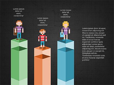 8bit People and Stages, Slide 16, 03856, Stage Diagrams — PoweredTemplate.com