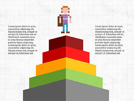 8bit People and Stages, Slide 2, 03856, Stage Diagrams — PoweredTemplate.com