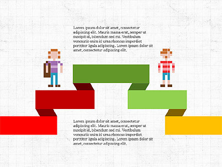 8bit People and Stages, Slide 4, 03856, Stage Diagrams — PoweredTemplate.com