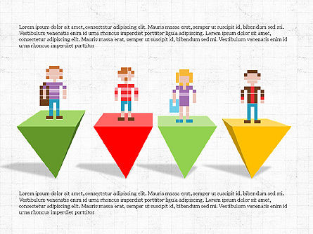 8bit People and Stages, Slide 5, 03856, Stage Diagrams — PoweredTemplate.com