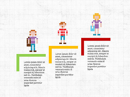 8bit People and Stages, Slide 6, 03856, Stage Diagrams — PoweredTemplate.com