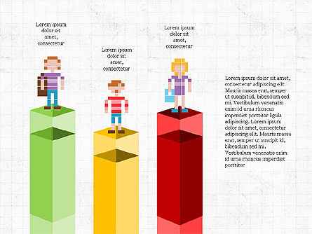 8bit People and Stages, Slide 8, 03856, Stage Diagrams — PoweredTemplate.com
