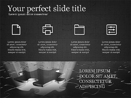Thin Lines Presentation Template, Slide 13, 03864, Presentation Templates — PoweredTemplate.com
