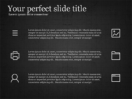 Thin Lines Presentation Template, Slide 16, 03864, Presentation Templates — PoweredTemplate.com