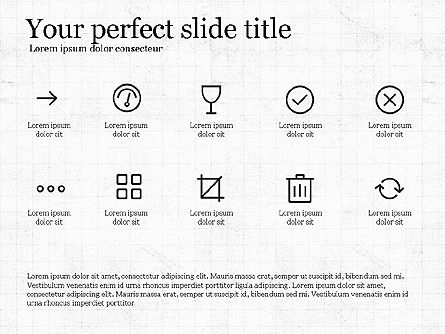 Thin Lines Presentation Template, Slide 4, 03864, Presentation Templates — PoweredTemplate.com