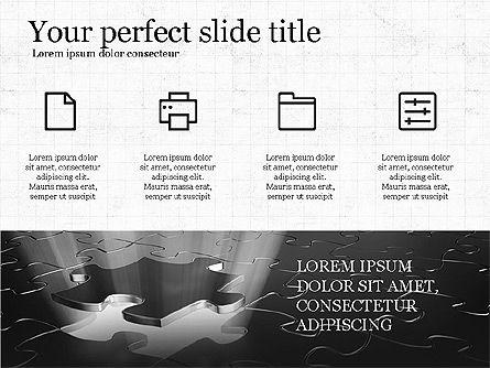 Thin Lines Presentation Template, Slide 5, 03864, Presentation Templates — PoweredTemplate.com