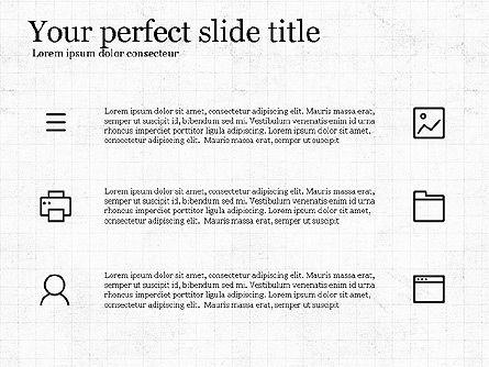 Thin Lines Presentation Template, Slide 8, 03864, Presentation Templates — PoweredTemplate.com