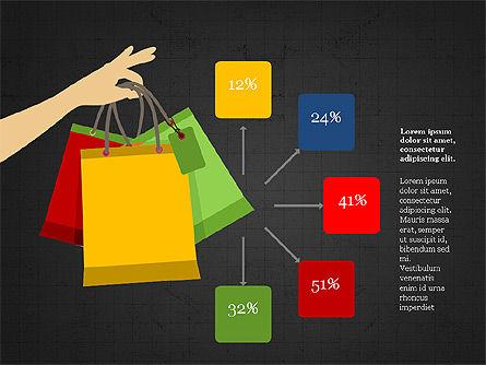 Shopping Infographics, Slide 13, 03867, Infographics — PoweredTemplate.com