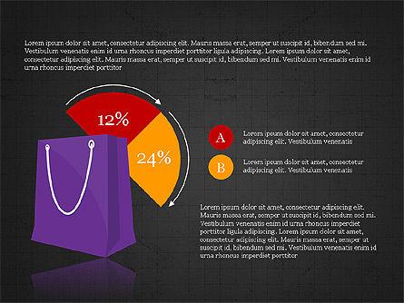 Shopping Infographics, Slide 14, 03867, Infographics — PoweredTemplate.com