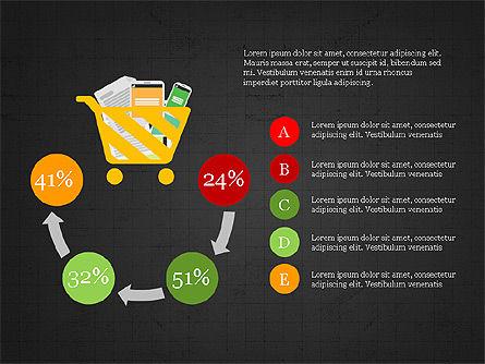 Shopping Infographics, Slide 15, 03867, Infographics — PoweredTemplate.com