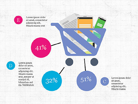 Shopping Infographics, Slide 2, 03867, Infographics — PoweredTemplate.com