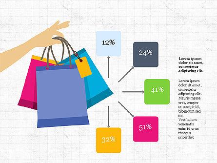 Shopping Infographics, Slide 5, 03867, Infographics — PoweredTemplate.com