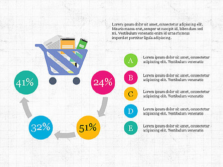 Shopping Infographics, Slide 7, 03867, Infographics — PoweredTemplate.com