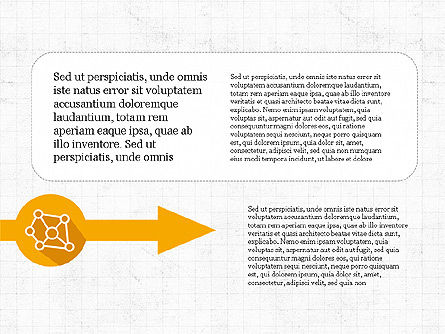 Process Arrows with Icons, Slide 3, 03869, Process Diagrams — PoweredTemplate.com