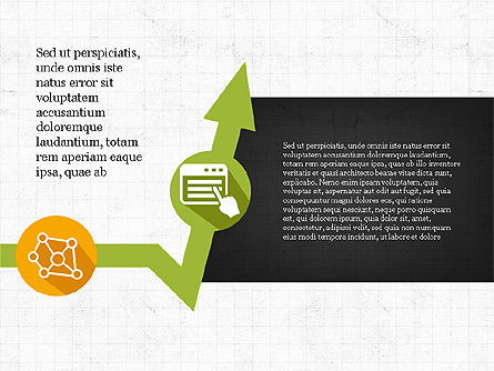 Process Arrows with Icons, Slide 4, 03869, Process Diagrams — PoweredTemplate.com