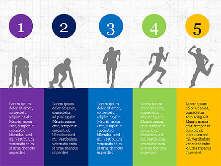 Sports Silhouettes Infographics, 03870, Silhouettes — PoweredTemplate.com