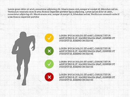 Sports Silhouettes Infographics, Slide 4, 03870, Silhouettes — PoweredTemplate.com