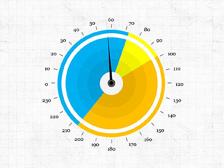 Pie Gauge Diagram, Slide 2, 03874, Pie Charts — PoweredTemplate.com