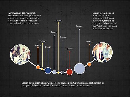 Timeline Presentation Template, Slide 11, 03875, Timelines & Calendars — PoweredTemplate.com
