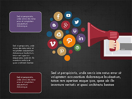 Presentation on Social Media, Slide 14, 03876, Presentation Templates — PoweredTemplate.com