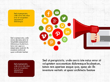 Presentation on Social Media, Slide 6, 03876, Presentation Templates — PoweredTemplate.com