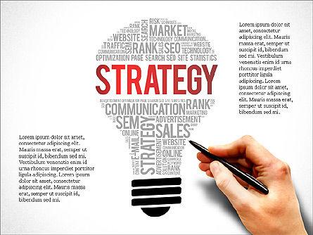 Business Related Word Clouds, Slide 7, 03881, Presentation Templates — PoweredTemplate.com