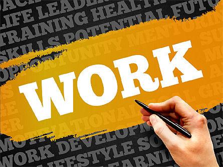 Business Related Word Clouds, Slide 9, 03881, Presentation Templates — PoweredTemplate.com