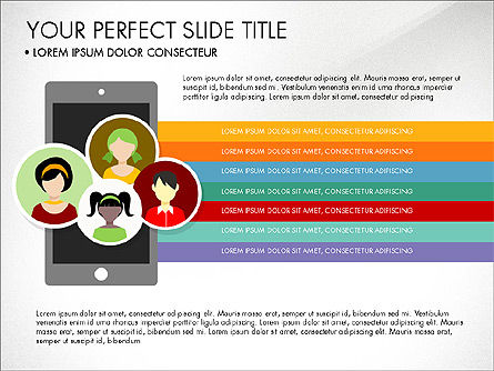 Illustrative Project Presentation Template, 03884, Presentation Templates — PoweredTemplate.com