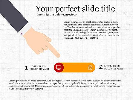 Step by Step Presentation Concept, 03887, Process Diagrams — PoweredTemplate.com