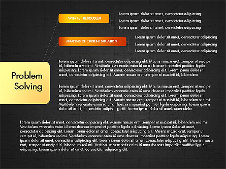 Problem Solving Stages Presentation Template, Slide 10, 03888, Stage Diagrams — PoweredTemplate.com